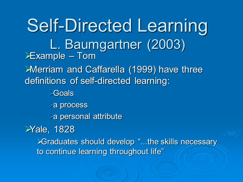 self-directed learning in older adults