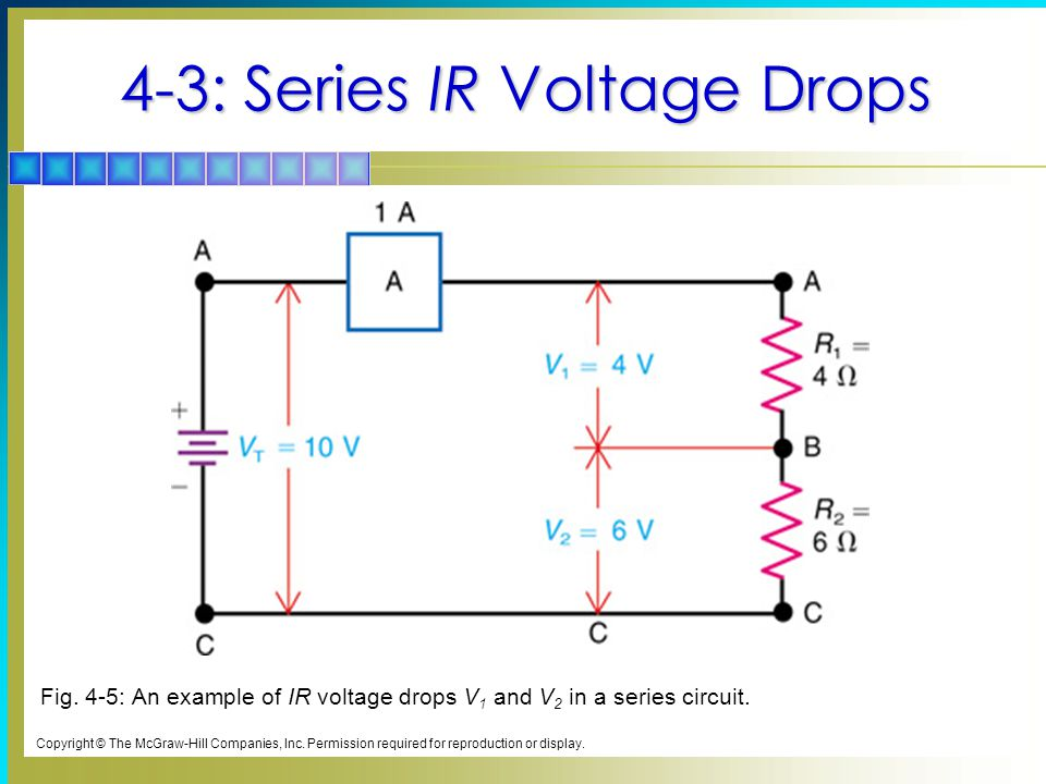 4-3: Series IR Voltage Drops