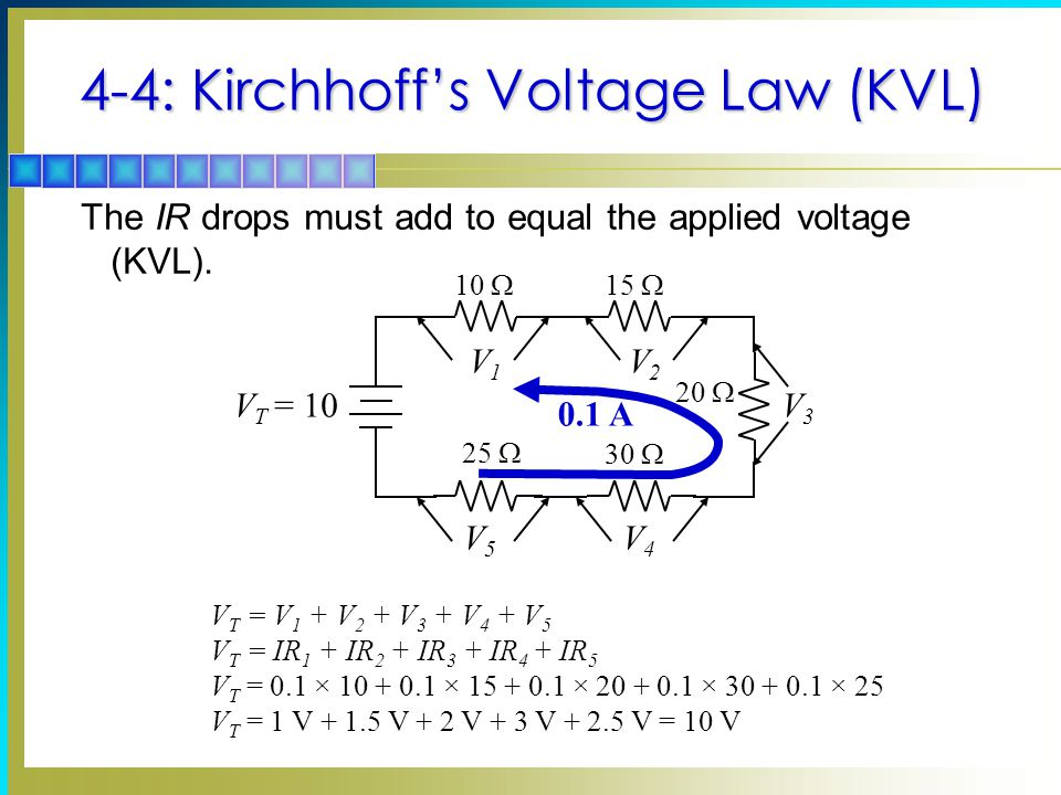 4-4: Kirchhoff's Voltage Law (KVL)