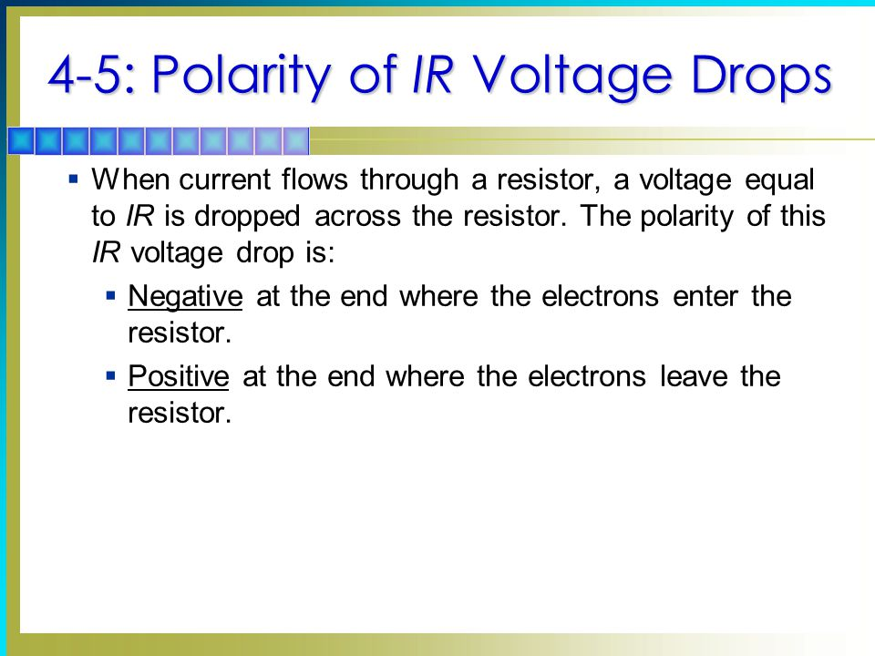 4-5: Polarity of IR Voltage Drops