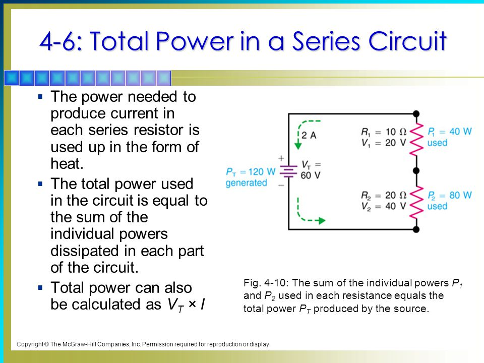 4-6: Total Power in a Series Circuit