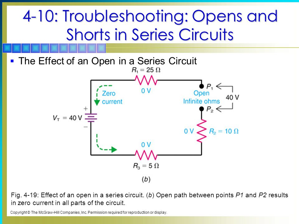 4-10: Troubleshooting: Opens and Shorts in Series Circuits