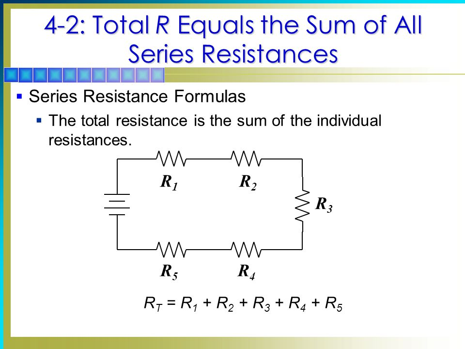4-2: Total R Equals the Sum of All Series Resistances