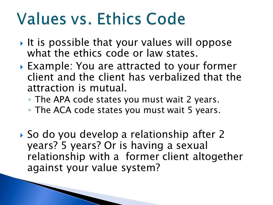lawyer ethics dating clients