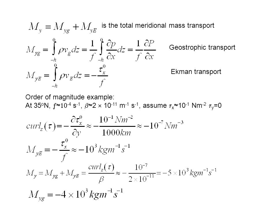 is the total meridional mass transport