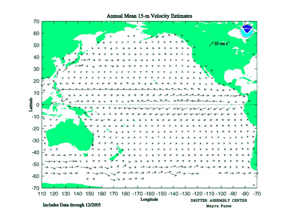 Annual Mean Surface Current Pacific Ocean,