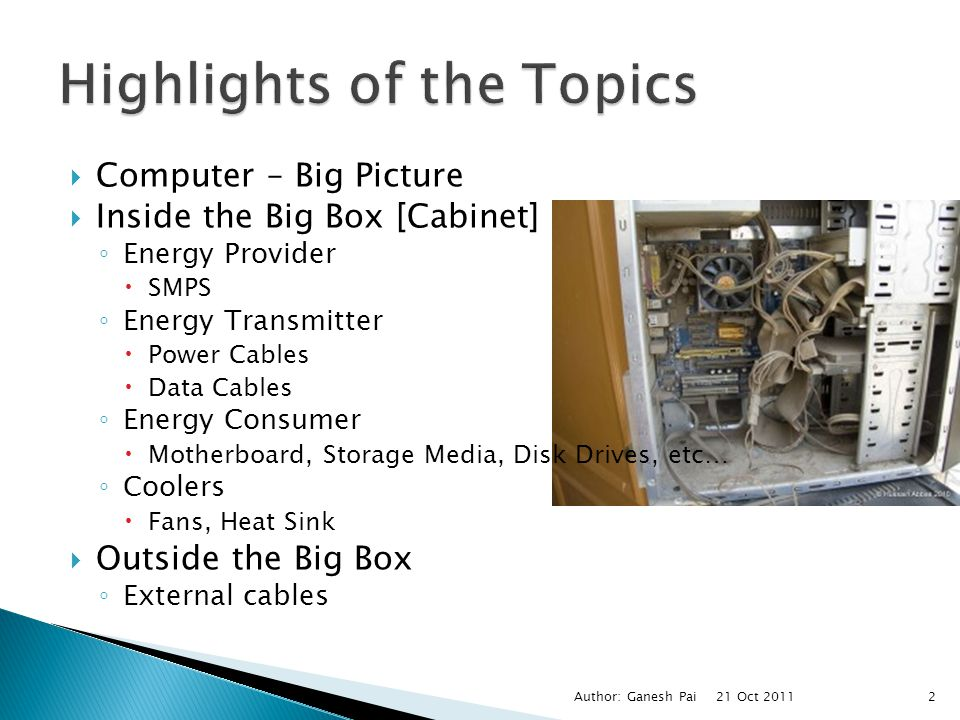 Highlights of the Topics