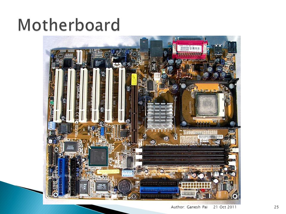 Motherboard Author: Ganesh Pai 21 Oct 2011
