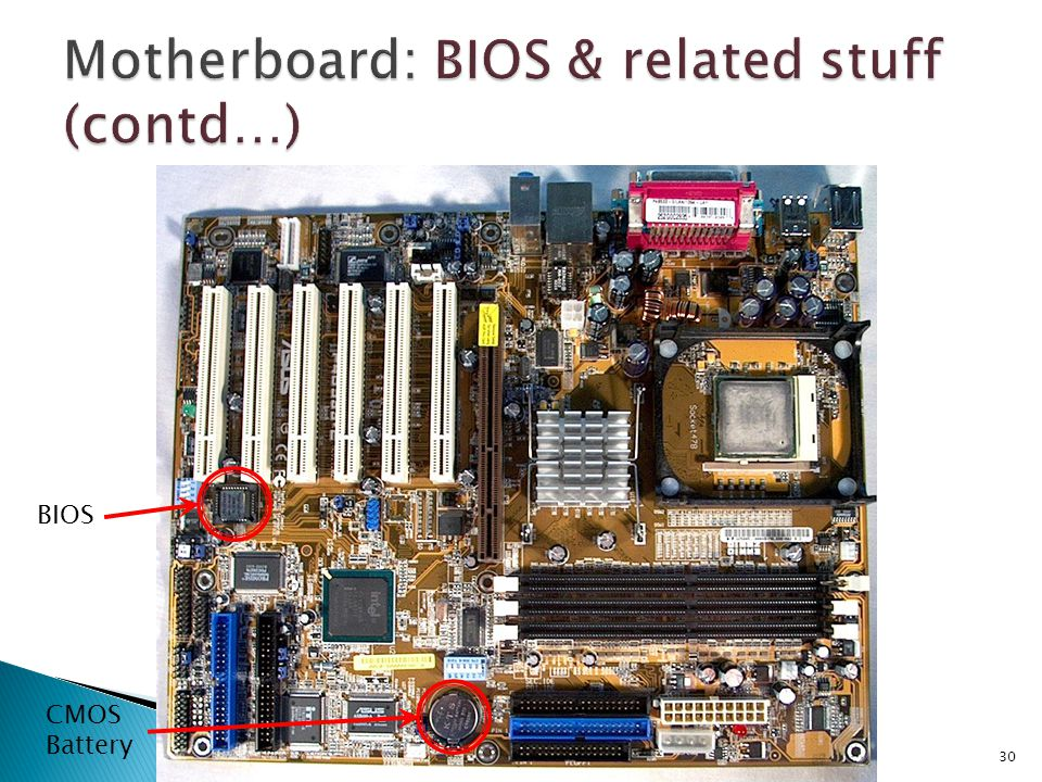 Motherboard: BIOS & related stuff (contd…)