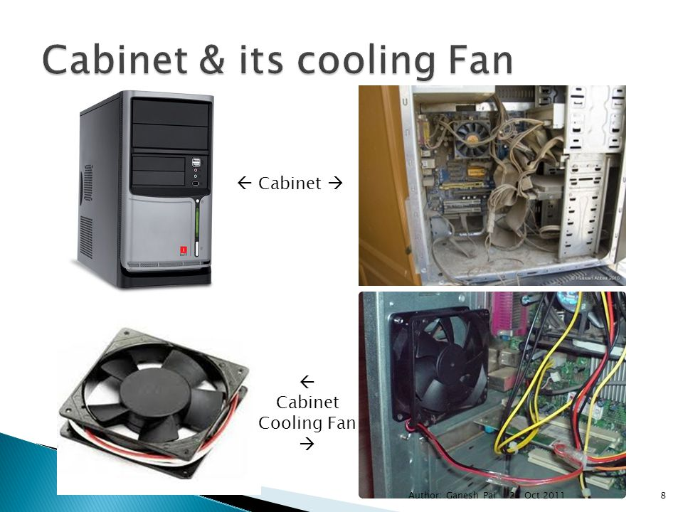 Cabinet & its cooling Fan