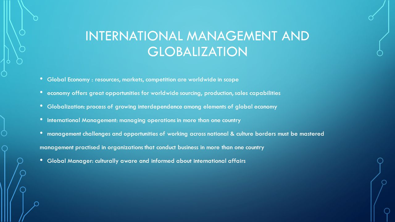global business management chapters review Business & finance new student  business management  † international perspective in line with real business activities.