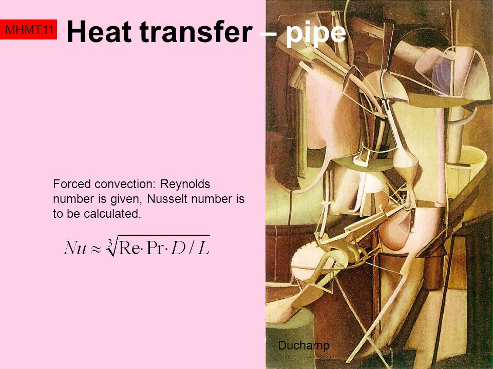 Heat transfer – pipe MHMT11
