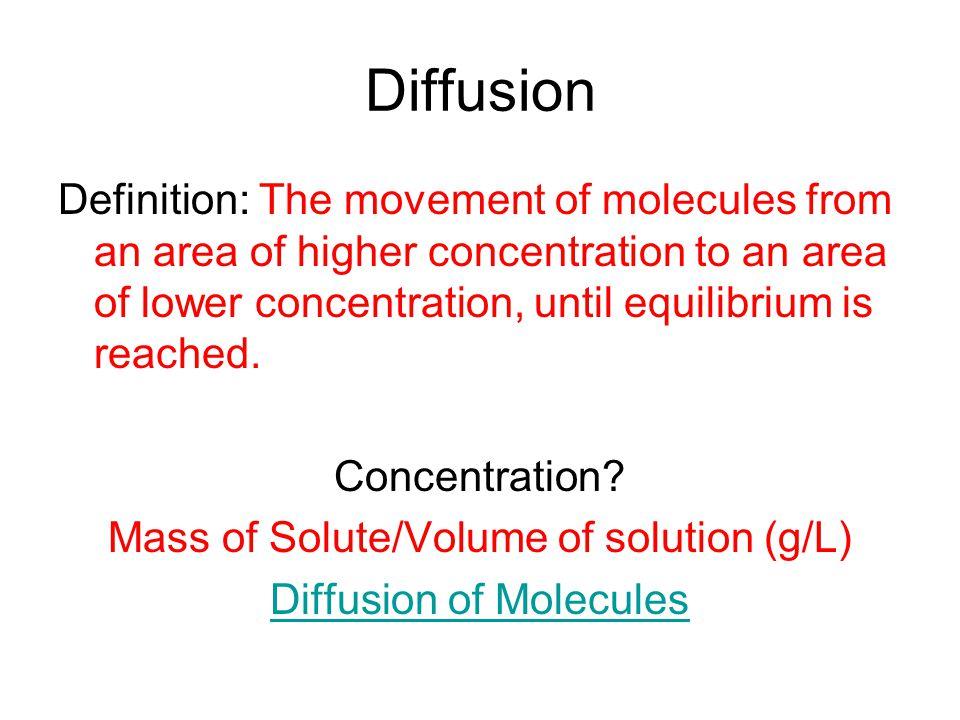 18 Diffusion Definition: ...