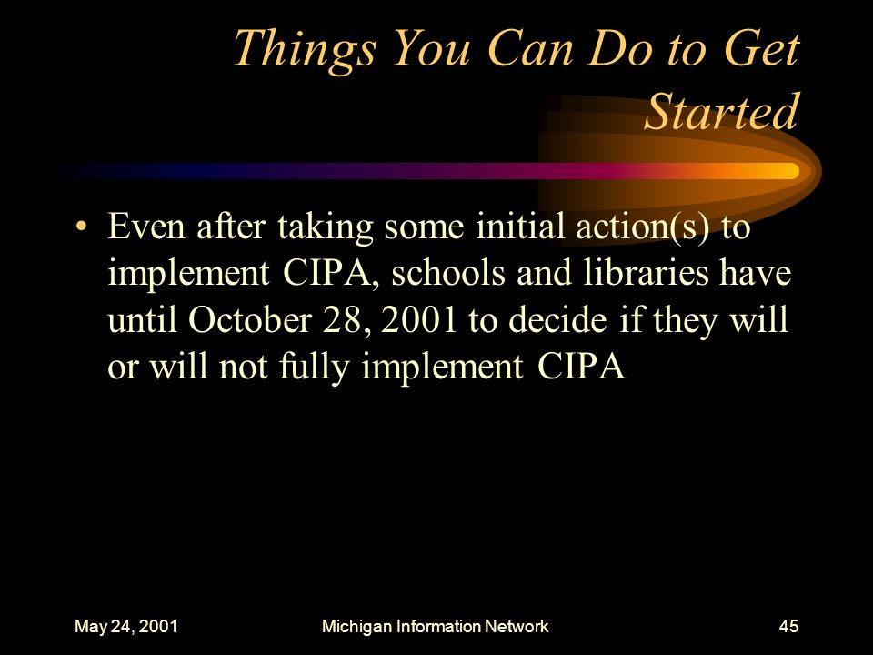 Things You Can Do to Get Started