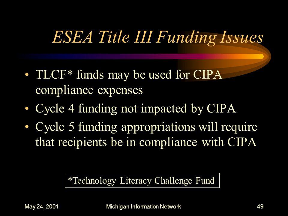 ESEA Title III Funding Issues