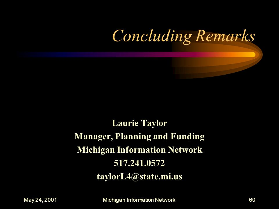 Manager, Planning and Funding Michigan Information Network