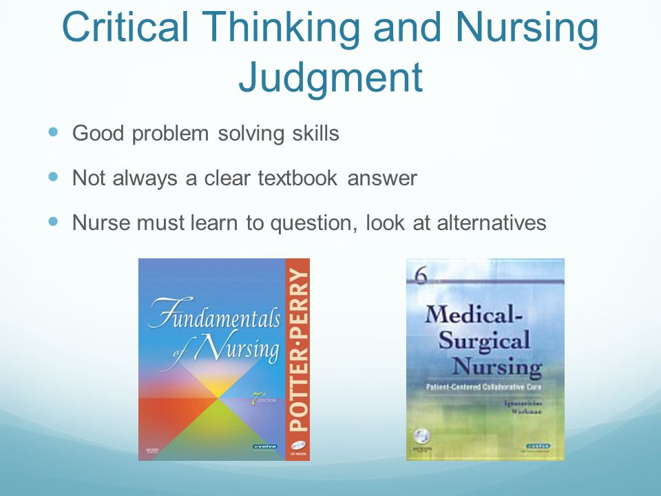 critical thinking and nursing judgment