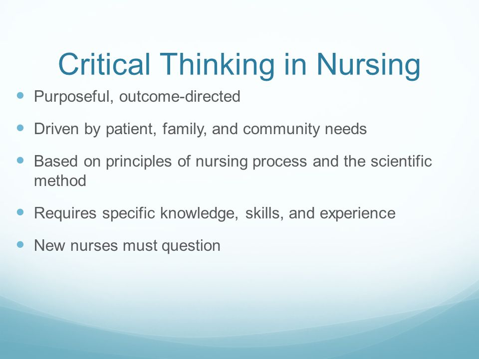 critical analysis in nursing Nursing reflective practice, 2015 - critical analysis of an incident.