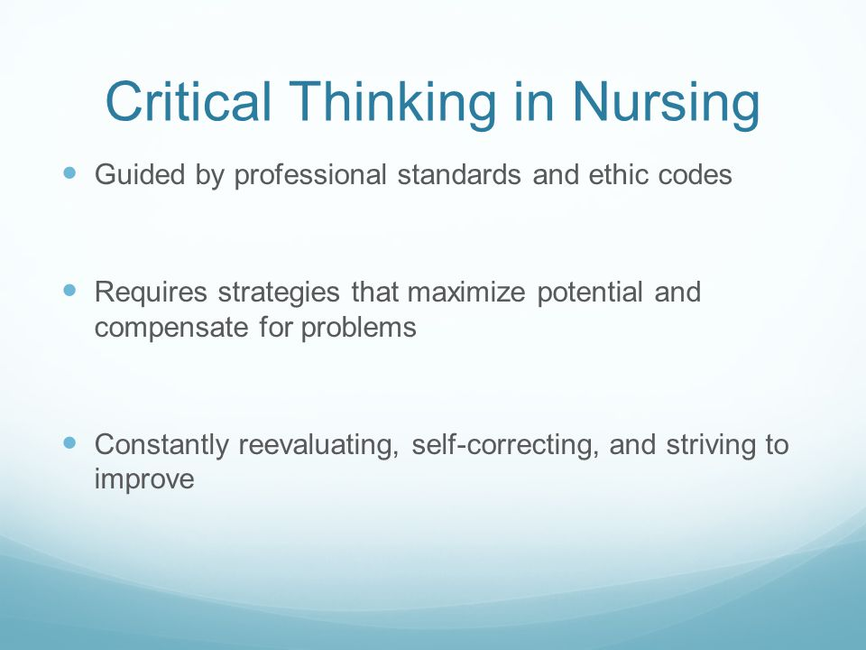 critical thinking in nursing programs