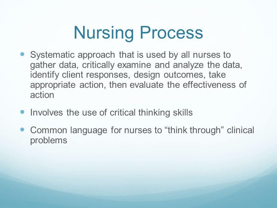 Skills of critical thinking in nursing