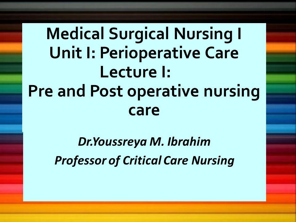 pre and postoperative nursing care pdf