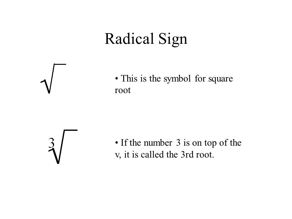 Radical Expressions Ppt Video Online Download