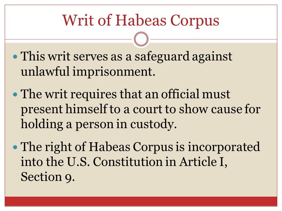the history of habeas corpus The writ of habeas corpus is an ancient law that acts to protect an arrested individual  habeas corpus in contemporary history.