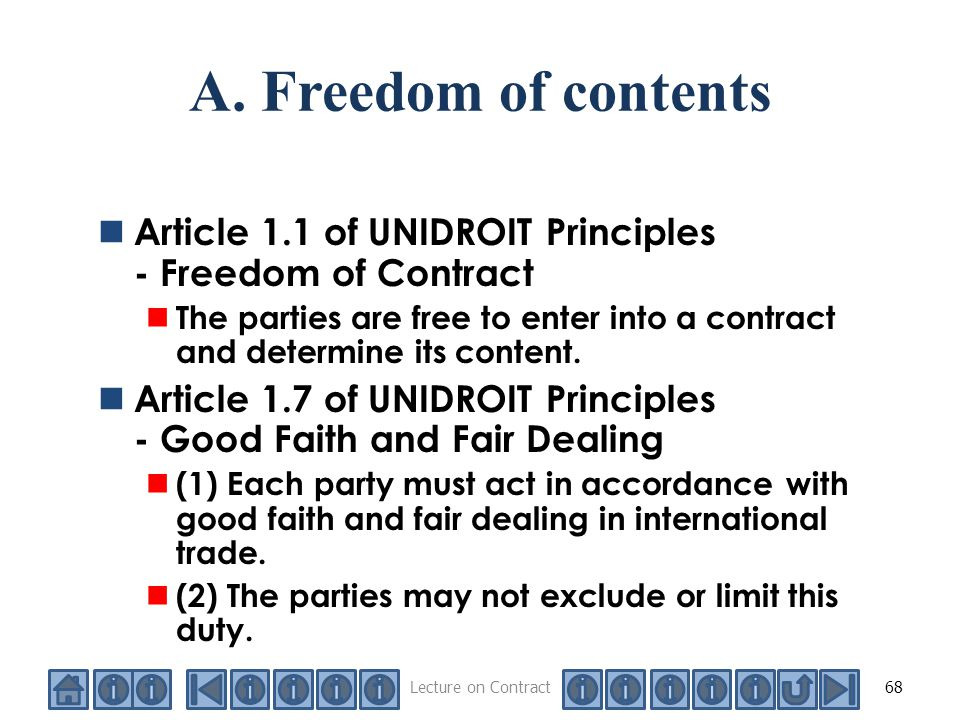 freedom of contract This essay provides a concise overview of the history of the constitutional status of freedom of contract in the united states, with particular attention to the.