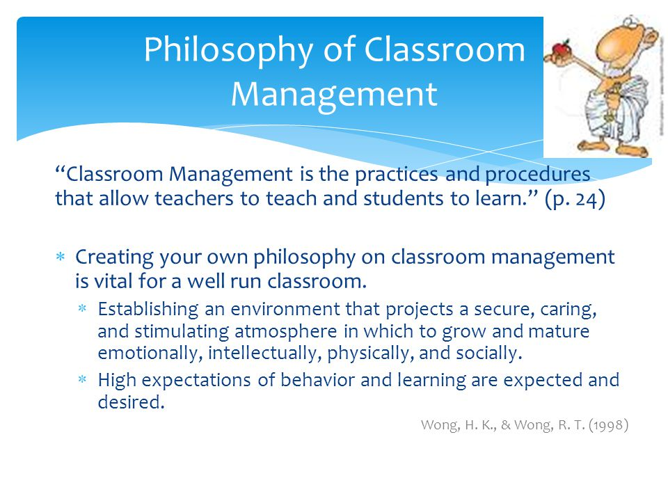 classroom management philosophy examples