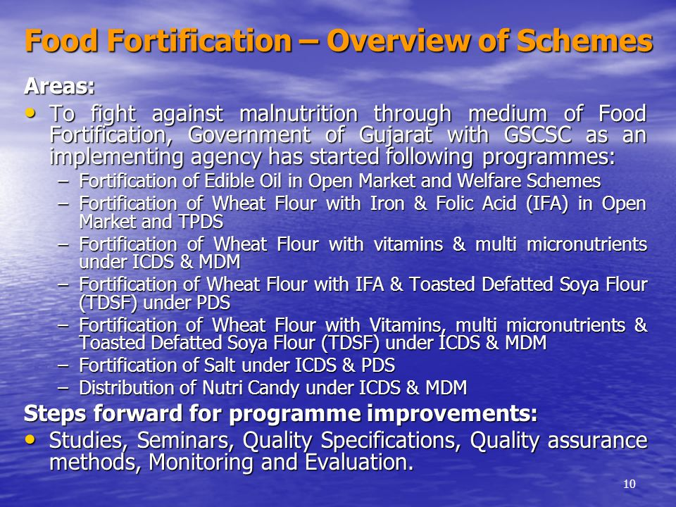Food fortification global overview
