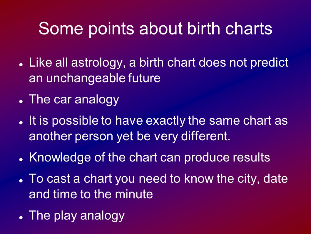 Astrology 201 how to interpret a birth chart pt1 ppt video some points about birth charts nvjuhfo Gallery
