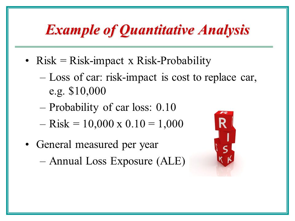 calculate sle aro and ale The ale is calculated by multiplying the annual rate of occurrence (aro) by the  single loss expectancy (sle) aro is the probability of a.