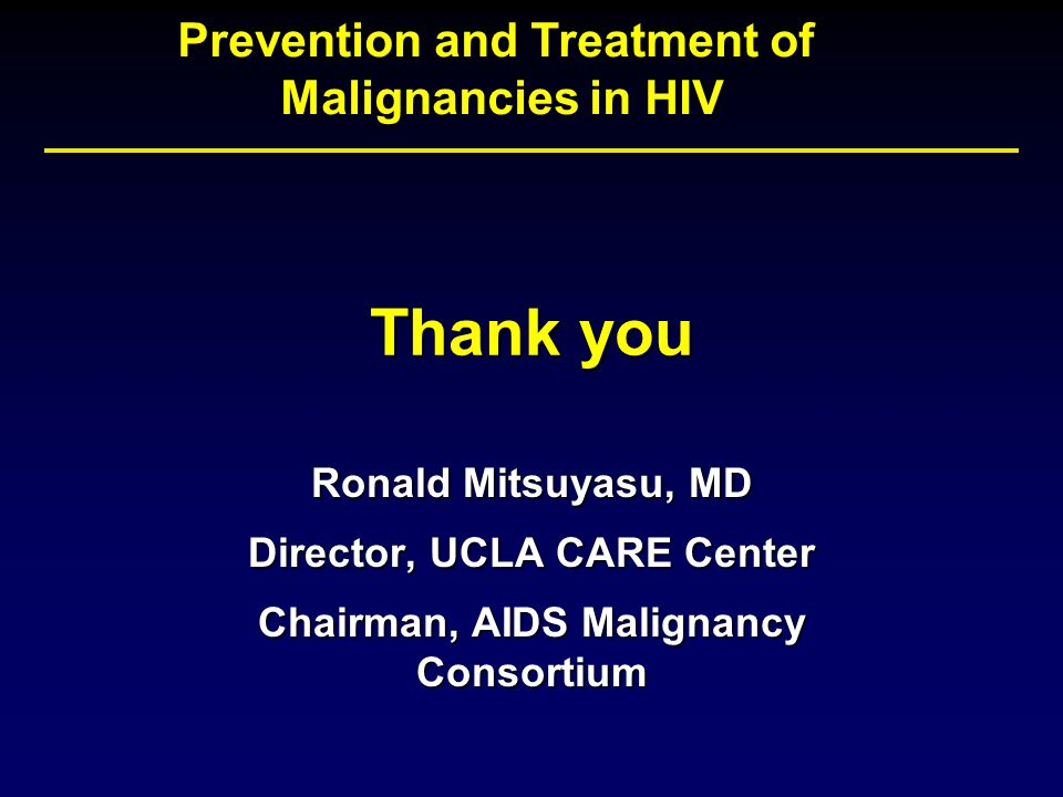 Malignancies in HIV: A Growing Concern - ppt download