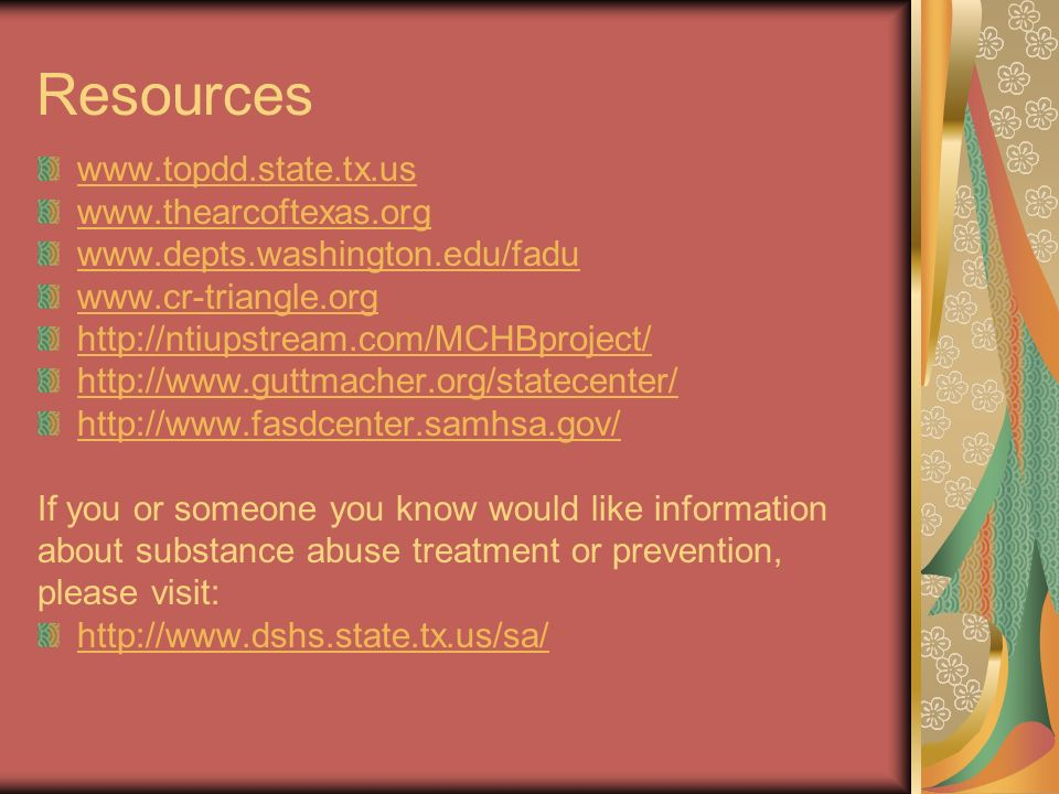 Resources www.topdd.state.tx.us www.thearcoftexas.org