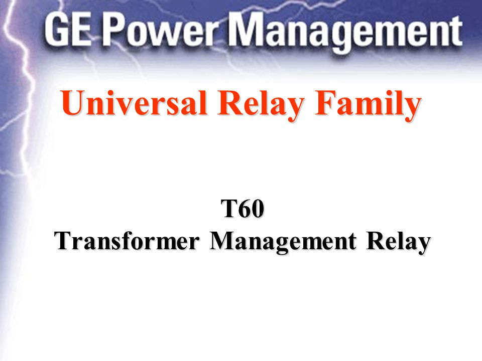 Universal relay family ppt download t60 transformer management relay publicscrutiny Images