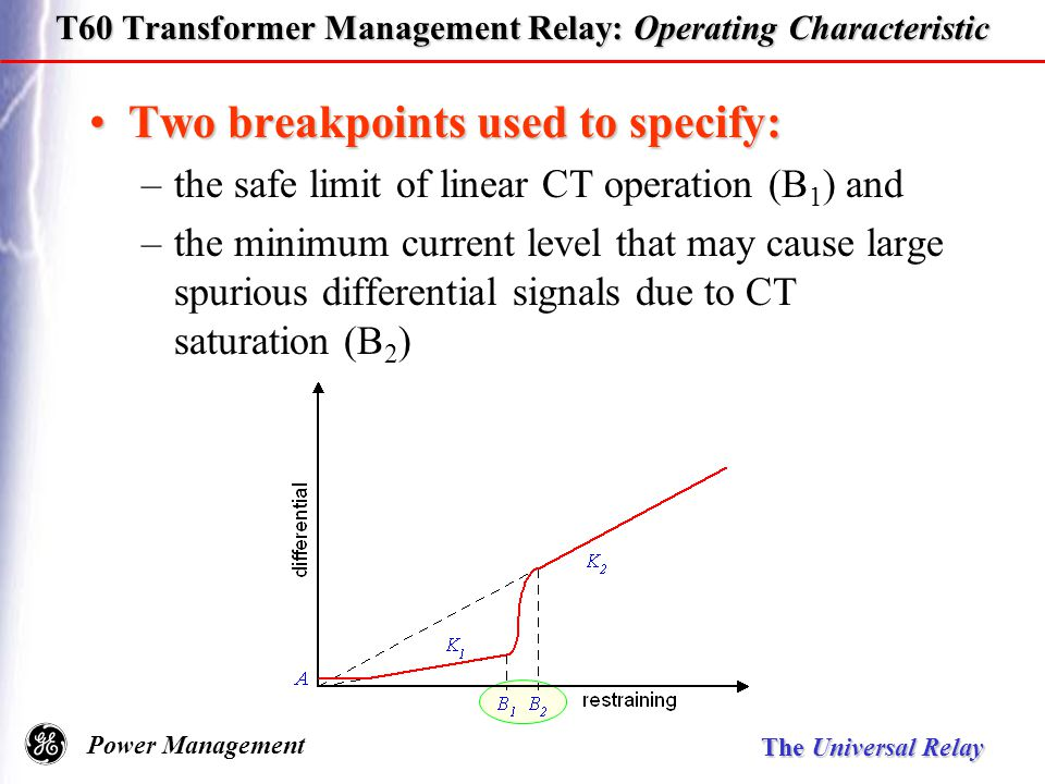 Universal relay family ppt download t60 transformer management relay operating characteristic publicscrutiny Images
