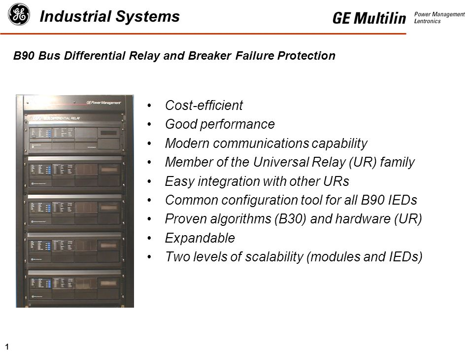 B90 Bus Differential Relay and Breaker Failure Protection