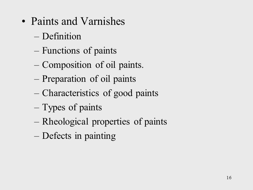 Paints And Varnishes : Civil engineering material ppt video online download