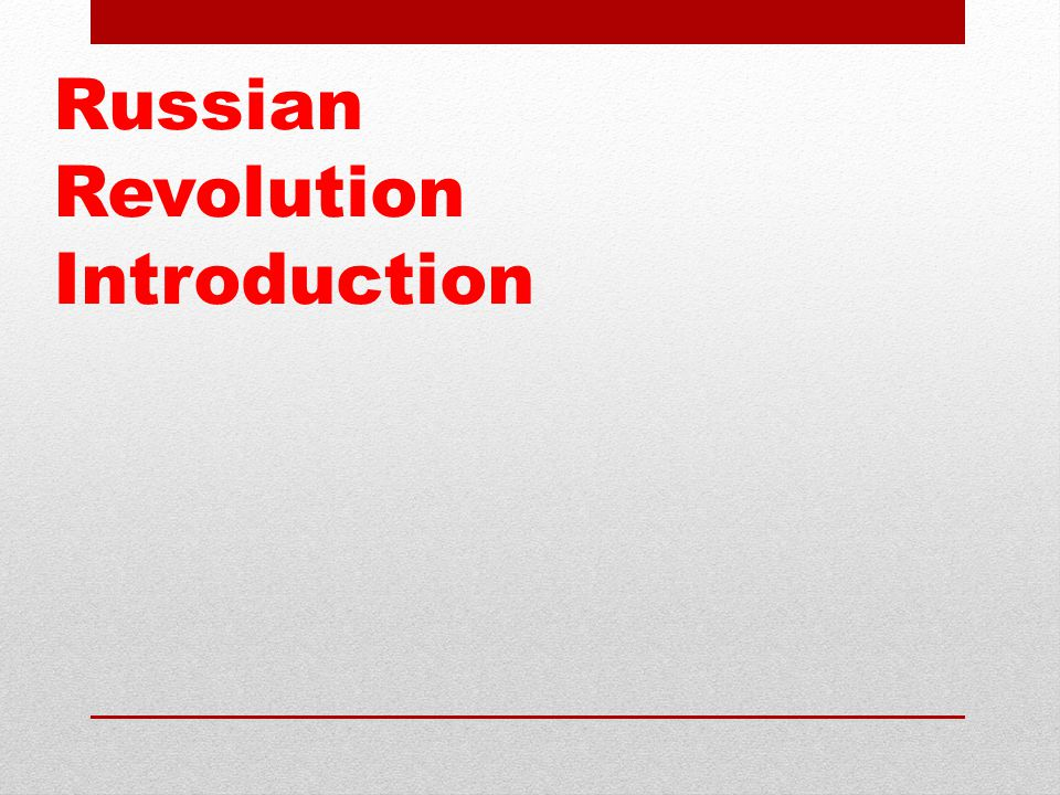 russian revolution essay introduction Russian revolution essay plans back to contents introduction before the war the war the analyze the causes of the russian revolution and decide.