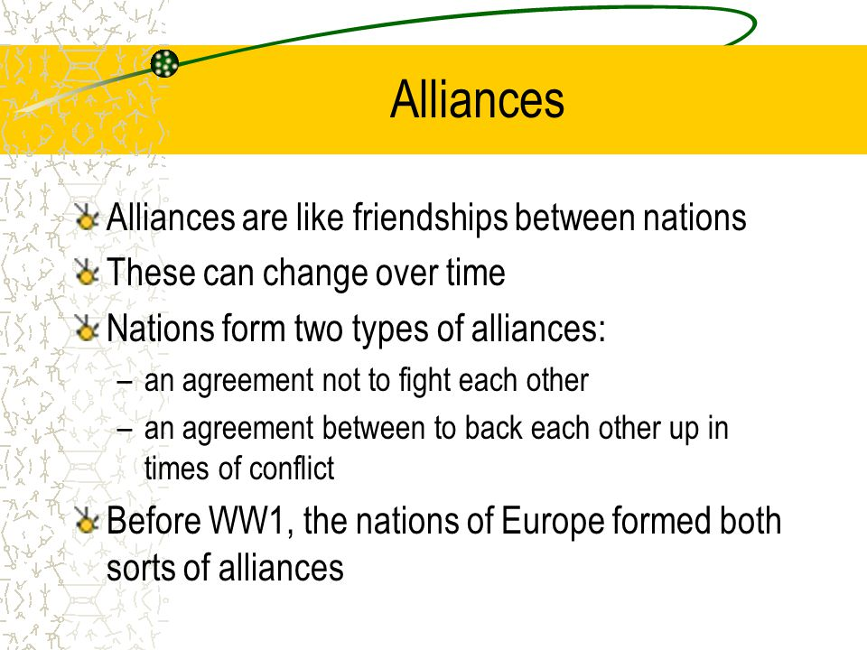 The build up to world war one ppt video online download alliances alliances are like friendships between nations platinumwayz