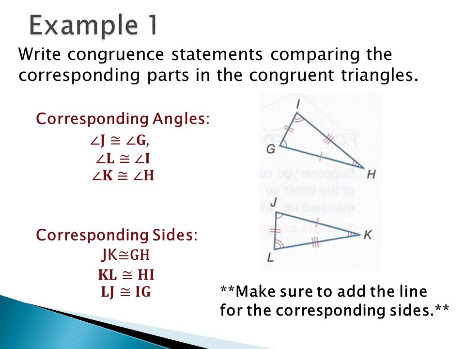 How Do You Write A Congruence Statement For Polygons