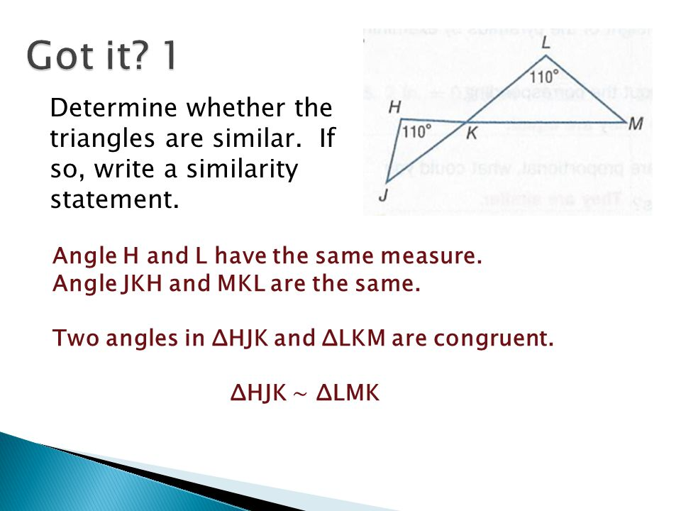 Write a congruence statement for the congruent triangles