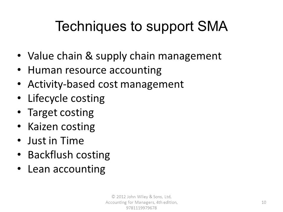 target costing for supply chain management Supply chain management is the formalised process that gives structure to these  arrangements  should be approached from target costing, supported.