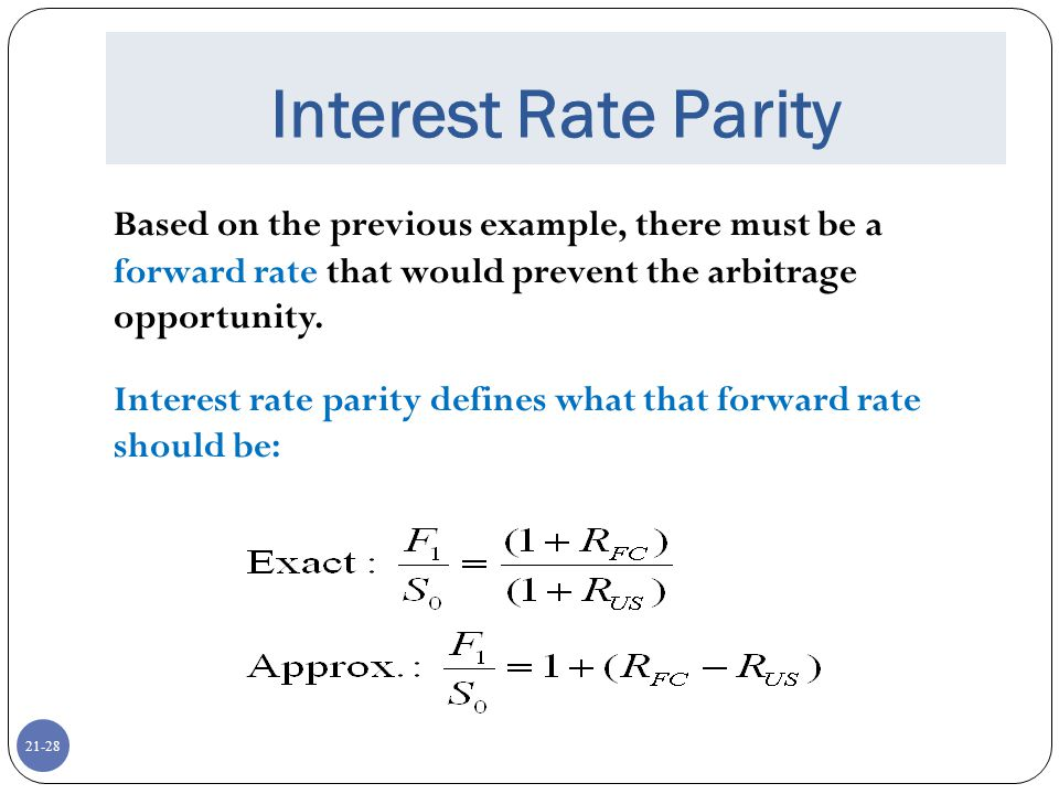 international arbitrage and interest rate parity