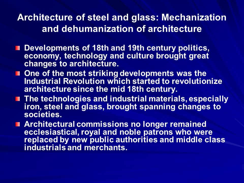 architecture of the 19th century ppt video online download