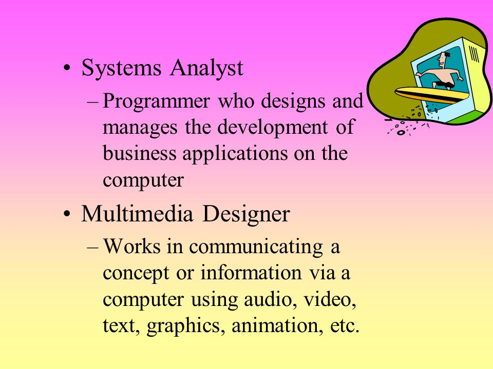 Systems Analyst Multimedia Designer