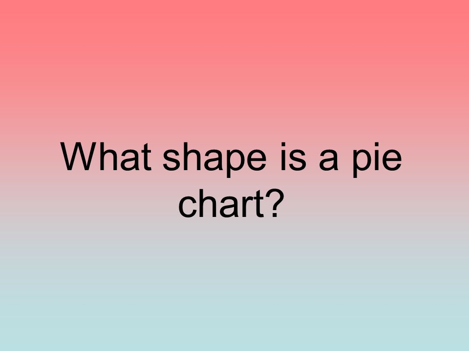 What shape is a pie chart