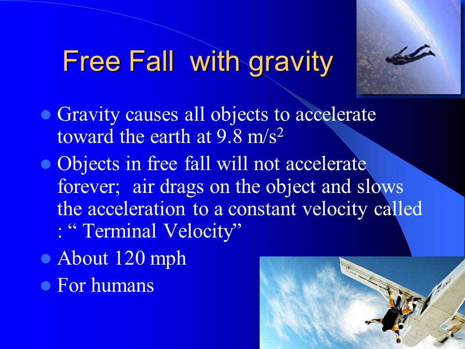 how to calculate free fall velocity