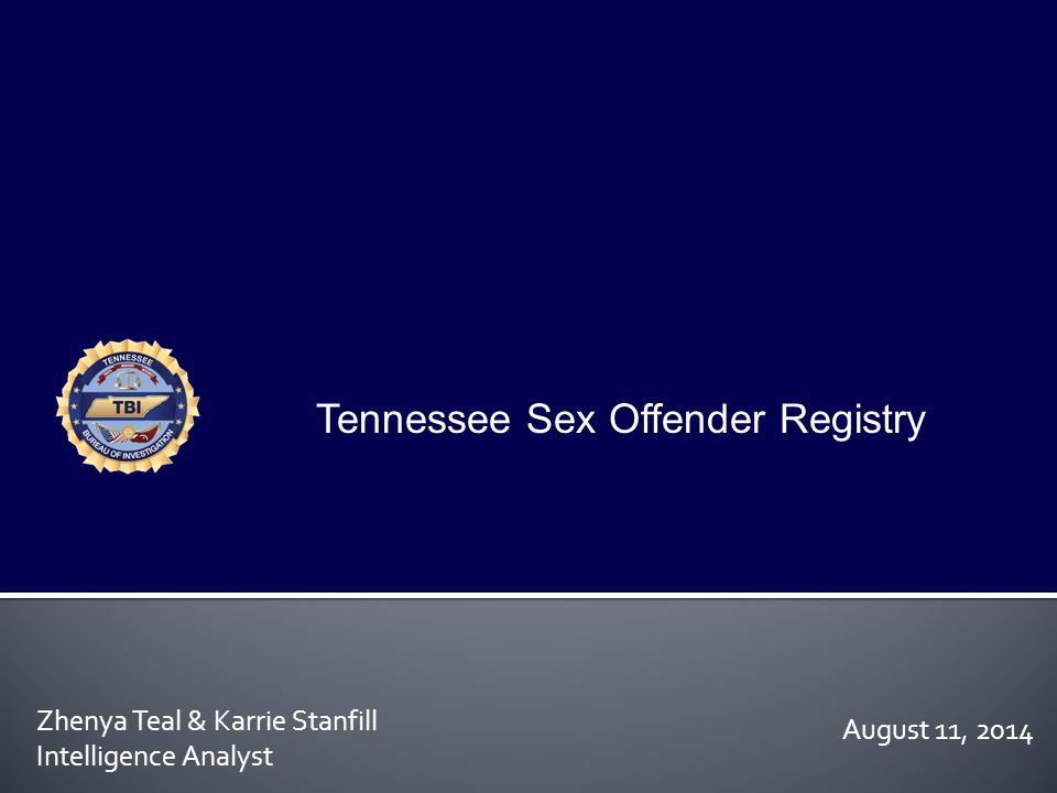 Tennessee Sex Offender Registry
