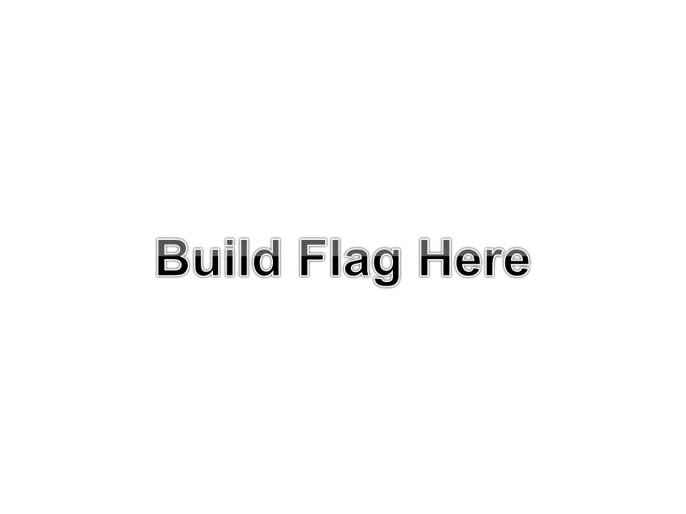 Build Flag Here